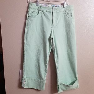 Christopher and banks green capris size 6